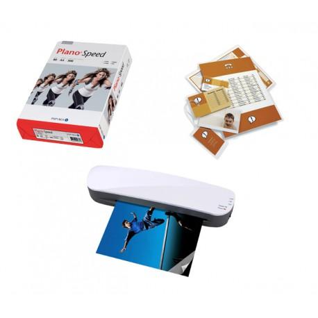 Pack Plastifieuse + pochettes + papier