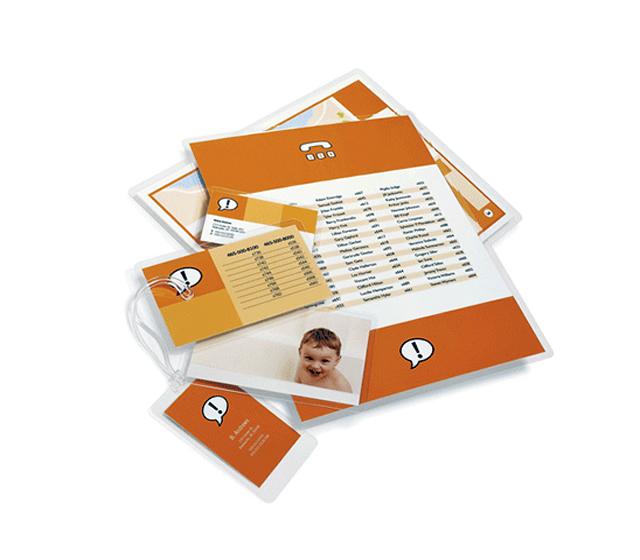 Pochettes à plastifier petit format, pochettes badge - pochettes à plastifier