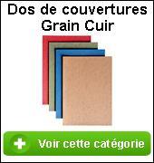 Couverture grain cuir de reliure
