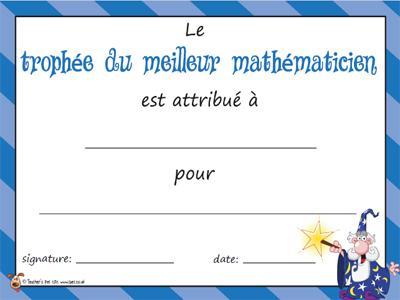 Diplôme mathématicien