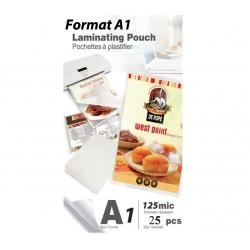 Pochettes A1 125 microns Brillante