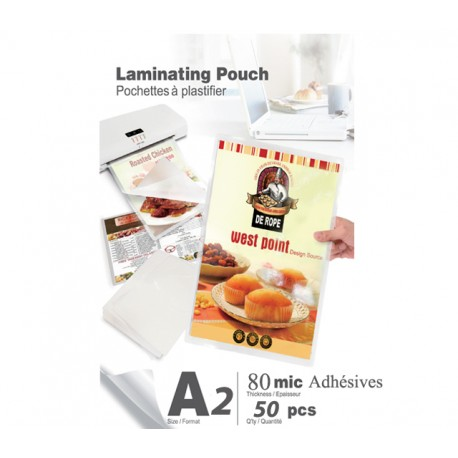 Pochettes A2 80 microns Adhésives